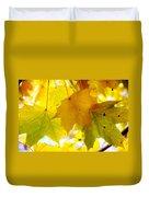 Maple Leaves In Autumn Glory Duvet Cover