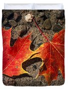 Maple Leaves In Water Duvet Cover by Elena Elisseeva