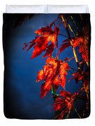 Maple Leaves Shadows Duvet Cover
