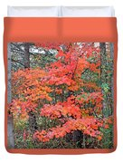 Maple Rush In The Fall Duvet Cover