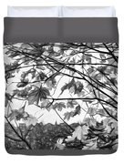 Maple Sunset - Paint Bw Duvet Cover