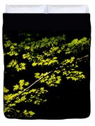 Maples Against Black Duvet Cover