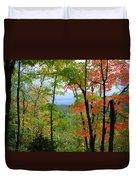 Maples Against Lake Superior - Tettegouche State Park Duvet Cover