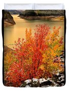 Maples Along The Palisades Duvet Cover