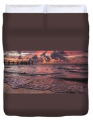 Marathon Key Sunrise Panoramic Duvet Cover by Adam Romanowicz
