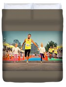 Marathon Of Happiness Duvet Cover