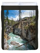 Marble Canyon In Kootenay Np-bc  Duvet Cover