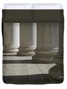 Marble Columns Of Thomas Jefferson Memorial Duvet Cover