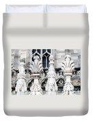 Marble Facade II Duomo Di Milano Italia Duvet Cover