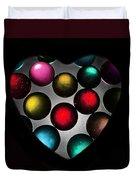 Marble Heart Duvet Cover