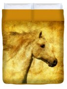 Marbled War Horse Duvet Cover