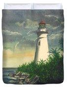 Marblehead Light On Lake Erie Duvet Cover