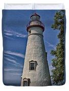 Marblehead Lighthouse Lake Erie Duvet Cover