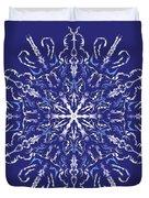 Marbleized Snowflake Kaleidoscope Duvet Cover