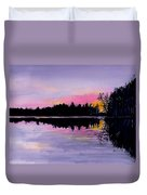 March Sunset In Maine Duvet Cover