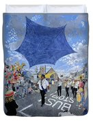 Marching Band, Brecon Jazz Festival, 1994 Oil On Board Duvet Cover