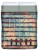 Marching Band Encaustic Duvet Cover
