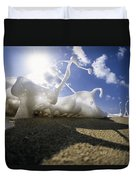 Marching Foam Duvet Cover by Sean Davey