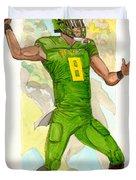 Marcus Mariota Oregon Ducks Rose Bowl Duvet Cover