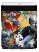 Mardi-gras 2010 In New Orleans 01 Duvet Cover