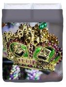 Mardi Gras Beads Duvet Cover