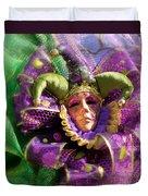 Mardi Gras Decoration Duvet Cover