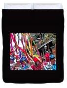 Mardi Gras Marching Parade Duvet Cover