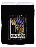 Mardi Gras Poster New Orleans Duvet Cover