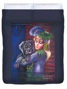 Mardi Gras Puppy Duvet Cover