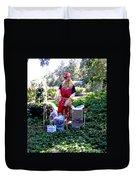 Mardi Gras Scarecrow At Bellingrath Gardens Duvet Cover