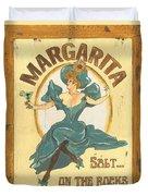 Margarita Salt On The Rocks Duvet Cover