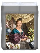 Maria Merian  Duvet Cover by Science Source