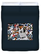 Mariano Rivera Painting Duvet Cover