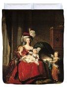 Marie Antoinette And Her Children Duvet Cover by Elisabeth Louise Vigee-Lebrun