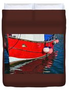 Marie F At The Harbour Duvet Cover