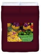 Marigolds And Limes Duvet Cover