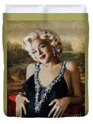 Marilyn 126 Mona Lisa Duvet Cover