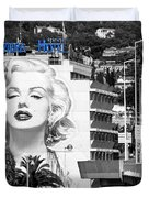 Marilyn In Cannes Duvet Cover