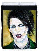 Marilyn Manson Oil Portrait Duvet Cover
