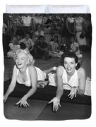 Marilyn Monroe And Jane Russell Duvet Cover