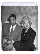 Marilyn Monroe And Joe Dimaggio Duvet Cover