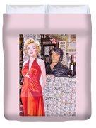 Marilyn Monroe And Elvis Duvet Cover