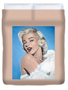 Marilyn Monroe - Blue Backround Duvet Cover