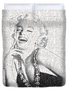 Marilyn Monroe In Mosaic Duvet Cover