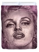Marilyn Monroe In Pink Duvet Cover