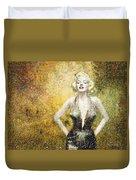 Marilyn Monroe In Points Duvet Cover