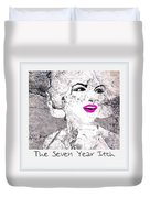 Marilyn Monroe Movie Poster Duvet Cover