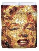 Marilyn Monroe On The Way Of Arcimboldo Duvet Cover