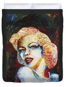 Marilyn Monroe Original Palette Knife Painting Duvet Cover