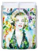 Marilyn Monroe Portrait.1 Duvet Cover